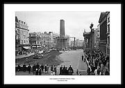 Den irske hæren forbereder seg til å rive ned Nelson's Pillar, 13 mars, 1966. Nelsons søyle ble reist.for å hedre en britisk admiral, og ble revet av irske nasjonalister.