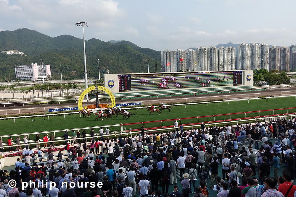 Horse racing at Shatin Racecourse