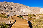 Boardwalk on the Salt Creek Trail, Death Valley National Park. California