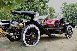 04 August 2012:  1909 Chalmers Detroit Roadster displayed at the McLean County Antique Automobile Club Show at the David Davis Mansion, Bloomington IL