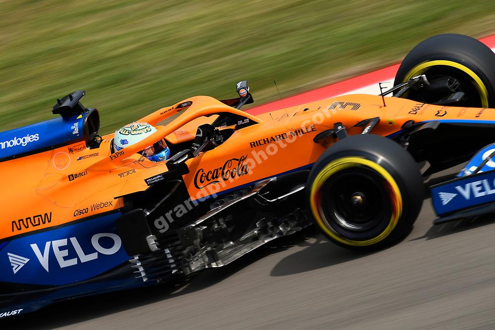 Daniel Ricciardo (McLaren-Mercedes) during practice for the 2021 Emilia Romagna Grand Prix in Imola.. Photo: Grand Prix Photo