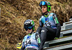 Jerneja Brecl of Slovenia and Maja Vtic of Slovenia during Day 3 of World Cup Ski Jumping Ladies Ljubno 2019, on February 10, 2019 in Ljubno ob Savinji, Slovenia. Photo by Matic Ritonja / Sportida
