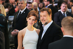 © Licensed to London News Pictures. 31/03/2014, UK. Emma Watson; Russell Crowe, Noah - UK film premiere, Odeon Leicester Square, London UK, 31 March 2014. Photo credit : Richard Goldschmidt/Piqtured/LNP