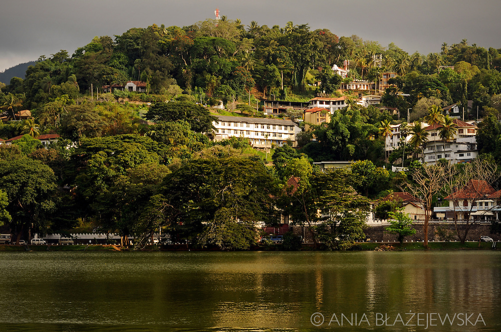 Sri Lanka. Lake in Kandy.
