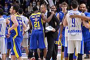 DESCRIZIONE : Eurolega Euroleague 2015/16 Group D Dinamo Banco di Sardegna Sassari - Maccabi Fox Tel Aviv<br /> GIOCATORE : Zan Tabak Ike Ofoegbu<br /> CATEGORIA : Fair Play Ritratto Esultanza Postgame<br /> SQUADRA : Maccabi Fox Tel Aviv<br /> EVENTO : Eurolega Euroleague 2015/2016<br /> GARA : Dinamo Banco di Sardegna Sassari - Maccabi Fox Tel Aviv<br /> DATA : 03/12/2015<br /> SPORT : Pallacanestro <br /> AUTORE : Agenzia Ciamillo-Castoria/L.Canu