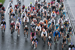 © Licensed to London News Pictures. 8/5/2014. Earl Shilton, Leicestershire, UK. The Women's Tour makes it's way down Clickers Way, past Earl Shilton in Leicestersire. Heavy rain as the second stage of the event took place. Photo credit : Dave Warren/LNP