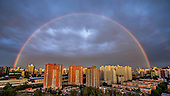 Double Rainbow appears in china