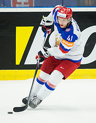 Nikolai Kulyomin of Russia during Ice Hockey match between Slovakia and Russia at Day 10 in Group B of 2015 IIHF World Championship, on May 10, 2015 in CEZ Arena, Ostrava, Czech Republic. Photo by Vid Ponikvar / Sportida