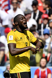 June 23, 2018 - Moscow, RUSSIA - Belgium's Romelu Lukaku celebrates at the second game of Belgian national soccer team the Red Devils against Tunisia national team in the Spartak stadium, in Moscow, Russia, Saturday 23 June 2018. Belgium won its first group phase game. BELGA PHOTO DIRK WAEM (Credit Image: © Dirk Waem/Belga via ZUMA Press)