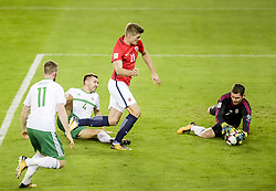 October 8, 2017 - Oslo, NORWAY - 171008  Alexander Sørloth of Norway during the FIFA World Cup Qualifier match between Norway and Northern Ireland on October 8, 2017 in Oslo..Photo: Fredrik Varfjell / BILDBYRÃ…N / kod FV / 150028 (Credit Image: © Fredrik Varfjell/Bildbyran via ZUMA Wire)