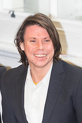London - Alleged computer hacker Lauri Love at a press conference surrounded by his legal team and family, held at the chambers of his solicitors in London after he successfully challenged a ruling that he can be extradited to the US, following allegations that he hacked United States government websites. PICTURED: Laurie Love and girlfriend Sylvia Mann February 05 2018.