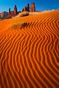 Sand dunes near Yei-bi-Chai rocks in Monument Valley, AZ