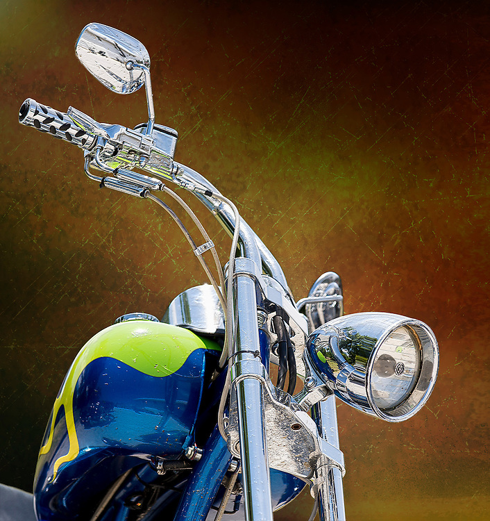 Shiny Chrome Chopper Handlebars