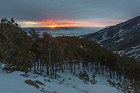 After staying up all night I watched the sunrise from Sand Turn Overlook in the Bighorn Mountains on this windy morning.