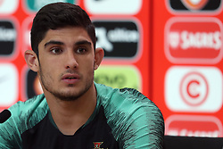 May 30, 2018 - Lisbon, Portugal - Portugal's forward Goncalo Guedes attends a press conference before a training session at Cidade do Futebol (Football City) training camp in Oeiras, outskirts of Lisbon, on May 30, 2018, ahead of the FIFA World Cup Russia 2018 preparation matches against Belgium and Algeria...........during the Portuguese League football match Sporting CP vs Vitoria Guimaraes at Alvadade stadium in Lisbon on March 5, 2017. Photo: Pedro Fiuzaduring the Portugal Cup Final football match CD Aves vs Sporting CP at the Jamor stadium in Oeiras, outskirts of Lisbon, on May 20, 2015. (Credit Image: © Pedro Fiuza/NurPhoto via ZUMA Press)
