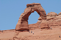 Delicate Arch at Arches National Park. Image taken with a Nikon D200 camera and 80-400 lens VR (ISO 100, 400 mm, f/8, 1/250 sec).