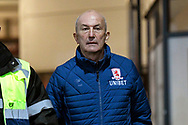 Middlesbrough manager Tony Pulis arriving at Rodney Parade before the The FA Cup match between Newport County and Middlesbrough at Rodney Parade, Newport, Wales on 5 February 2019.