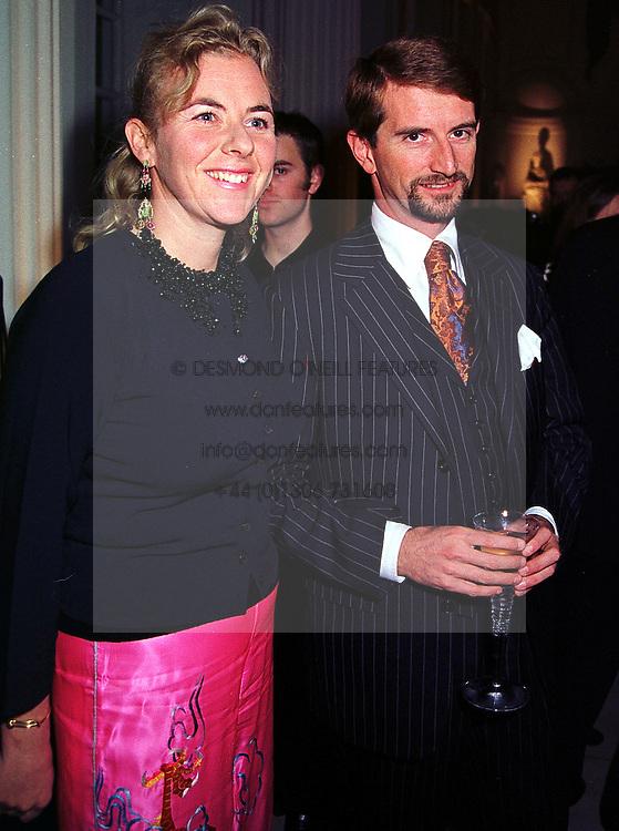 COUNT & COUNTESS MANFREDI DELLA GHERARDESCA, at a party in London on 7th October 1999.MXI 54