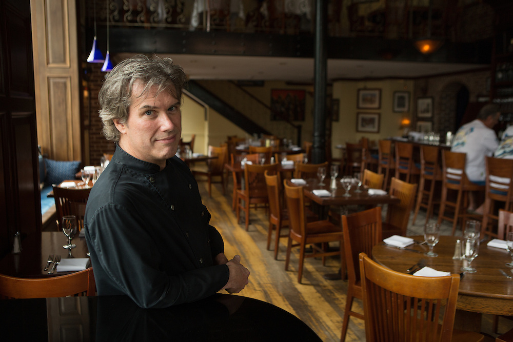 Photograph of David Drake, chef at the Light Horse Tavern in Jersey City.   Photo by John O'Boyle