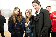RUBY BOGLIONE; VIOLET HESKETH; BLAISE PATRICK, Hoxton Sq projects auction in aid of Shelter. .- Hoxton sq. Gallery. 24 November 2010. . -DO NOT ARCHIVE-© Copyright Photograph by Dafydd Jones. 248 Clapham Rd. London SW9 0PZ. Tel 0207 820 0771. www.dafjones.com.