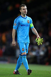 5th December 2017 - UEFA Champions League - Group A - Manchester United v CSKA Moscow - CSKA goalkeeper Igor Akinfeev looks dejected after full-time - Photo: Simon Stacpoole / Offside.