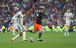 April 29, 2017 - Madrid, Spain - MADRID, SPAIN. APRIL 29th, 2017 - Casemiro and Parejo. La Liga Santander matchday 35 game. Real Madrid defeated 2-1 Valencia with goals scored by Cristiano Ronaldo (26th minute) and Marcelo (86th minute). Parejo (82nd minute) scored for Valencia. Santiago Bernabeu Stadium. Photo by Antonio Pozo | PHOTO MEDIA EXPRESS (Credit Image: © Antonio Pozo/VW Pics via ZUMA Wire/ZUMAPRESS.com)
