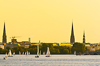 Sailboats, Alster Lake, Hamburg, Germany