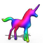 Colourful Unicorn in 3D