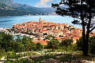 Kor?ula town  [  Korcula ] Island Craotia Korčula town  ( Korcula] harbour  Craotia