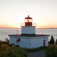 The Long Eddy Point Lighthouse on Grand Manan Island, off the Coast of New Brunswick, Canada. Photo by William Drumm.
