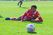 Jacob Brown of Barnsley (33) appeals for a penalty to the linesman during the EFL Sky Bet League 1 match between Barnsley and Coventry City at Oakwell, Barnsley, England on 30 March 2019.