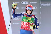 SOELDEN, AUSTRIA. OCTOBER 17 2020:  1st Women's Giant Slalom as part of the Alpine Ski World Cup in Solden on October 17, 2020; Run 2, Federica Brignone (ITA) ( Pierre Teyssot/ESPA Images-Image of Sport)