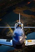 """Spectacular color photographic image of a P-51 Mustang """"Cripes A' Mighty"""" up really close, taken air to air over the Arizona desert"""