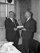 1962 - Long Service Award (25 years) of a watch presented to Mr. Hallwell of Esso.