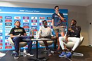 Jimmy Vicaut (FRA), Pierre-Ambroise Bosse (FRA) Joseph Deng (AUS) and Peter Bol (AUS) during press conference of Meeting de Paris 2018, Diamond League, at Hotel Marriott, in Paris, France, on June 29, 2018 - Photo Jean-Marie Hervio / KMSP / ProSportsImages / DPPI