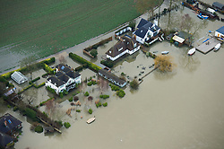 **Previously unseen pics from original aerial shoot** © London News Pictures. 09/02/2014. Bourne End, UK.  Aerial view showing flooding at Bourne End, Buckinghamshire where the River Thames has burst its banks. The Thames river has hit record levels causing extensive flooding to parts of the southeast of England. Photo credit : Ben Cawthra/LNP
