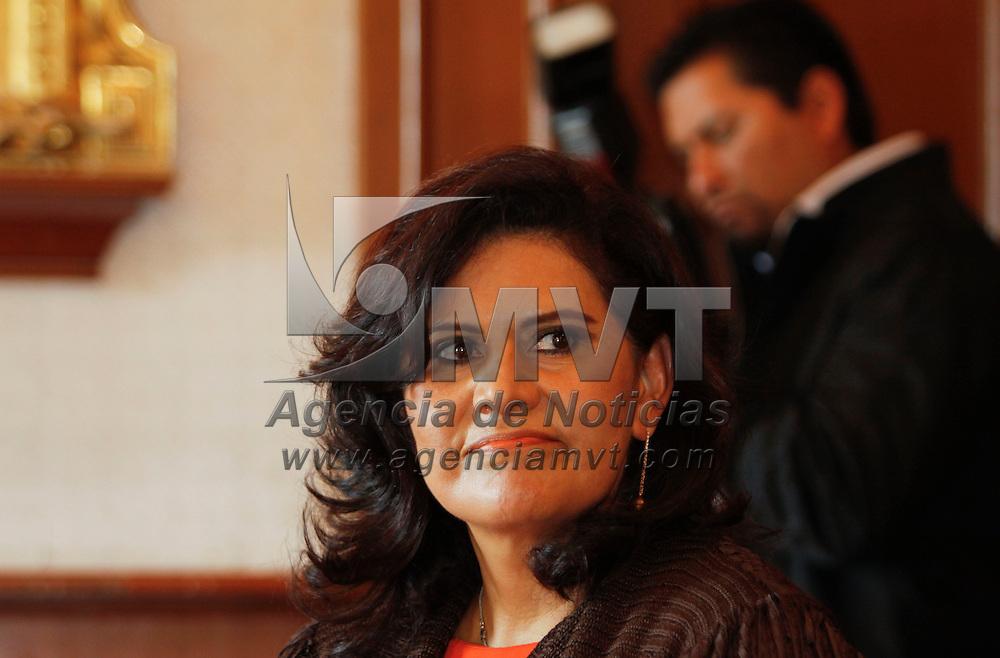 Toluca, México.- María Elena Barrera Tapía, senadora electa en el inicio de las actividades de la Semana de la Administración Pública. Agencia MVT / Crisanta Espinosa