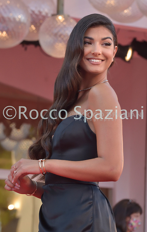 """VENICE, ITALY - SEPTEMBER 11: Elisa Maino  walks the red carpet ahead of the movie """"Nomadland"""" at the 77th Venice Film Festival on September 11, 2020 in Venice, Italy. (<br /> (Photo by Rocco Spaziani)"""