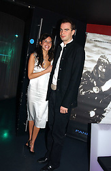 FRITZ VON WESTENHOLTZ and CAROLINE SIEBER at a party hosted by Panerai and the Baglioni Hotel, 60 Hyde Park Gate, London on 6th December 2004.<br />