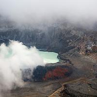 Central America, Costa Rica, Poas. Poas Vocano Crater.