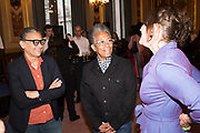 LUBAINA HIMID; INGRID POLLARD, TenTen. The Government Art Collection/Outset Annual Award. Champagne reception to announce the inaugural artist Hurvin Anderson and unveil his 2018 print. Locarno Suite, Foreign and Commonwealth Office. SW1. 2 October 2018