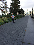 EXCLUSIVE<br /> Homeland Actress Claire Danes  running through Battery park during breaks from filming of Homeland\<br /> ©Carrie Silberman/ Exclusivepix Media