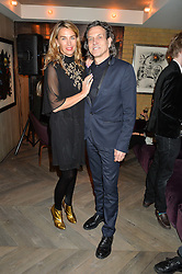 STEPHEN & ASSIA WEBSTER at the 3rd birthday party for Spectator Life magazine hosted by Andrew Neil and Olivia Cole held at the Belgraves Hotel, 20 Chesham Place, London on 31st March 2015.