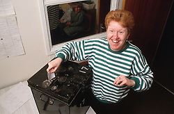 Woman with learning difficulties voting in local elections,
