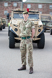 Ross Fleming. Feature on the Army's new Foxhound light mechanised infantry vehicles at Fort George army barracks, before they leave on convoy for England, before going into active service.