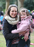 Rachael Fionda, from Dublin 8, with her daughter, Edith, 4 in St Stephens green, Dublin as part of RTE's reflecting the rising celebrations. Picture credit; Damien Eagers 28/3/2016