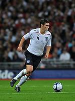 Photo: Tony Oudot/Richard Lane Photography.  England v Czech Republic. International match. 20/08/2008. <br /> Gareth Barry of England .