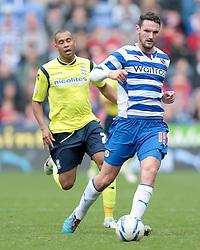Reading's Sean Morrison passes back to goal - Photo mandatory by-line: Nigel Pitts-Drake/JMP - Tel: Mobile: 07966 386802 28/09/2013 - SPORT - FOOTBALL - Madejski Stadium - Reading - Reading V Birmingham City - Sky Bet Championship
