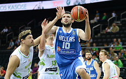 Konstantinos Papanikolao of Greece during friendly match between National Teams of Slovenia and Greece before World Championship Spain 2014 on August 17, 2014 in Kaunas, Lithuania. Photo by Robertas Dackus / Sportida.com