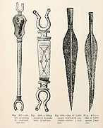 Spear heads and scabbards from the book '  The viking age: the early history, manners, and customs of the ancestors of the English speaking nations ' by Du Chaillu, (Paul Belloni), 1835-1903 Publication date 1889 by C. Scribner's sons in New York,